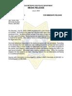 07-02-2005 - Homicide at 1600 Block of Cordoba