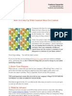 How to come up with constant ideas for content