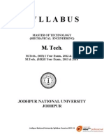 SYLLABUS- M TECH Mechanical_Engineering- JNU