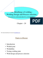Welding Design and Process Selection