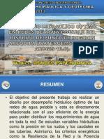 DESEMPEÑO HIDRAULICO OPTIMO REDES - CONGRESO LIMA