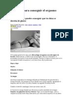 Te3cnicas Para Cpnseguir El Orgasmo Femenino