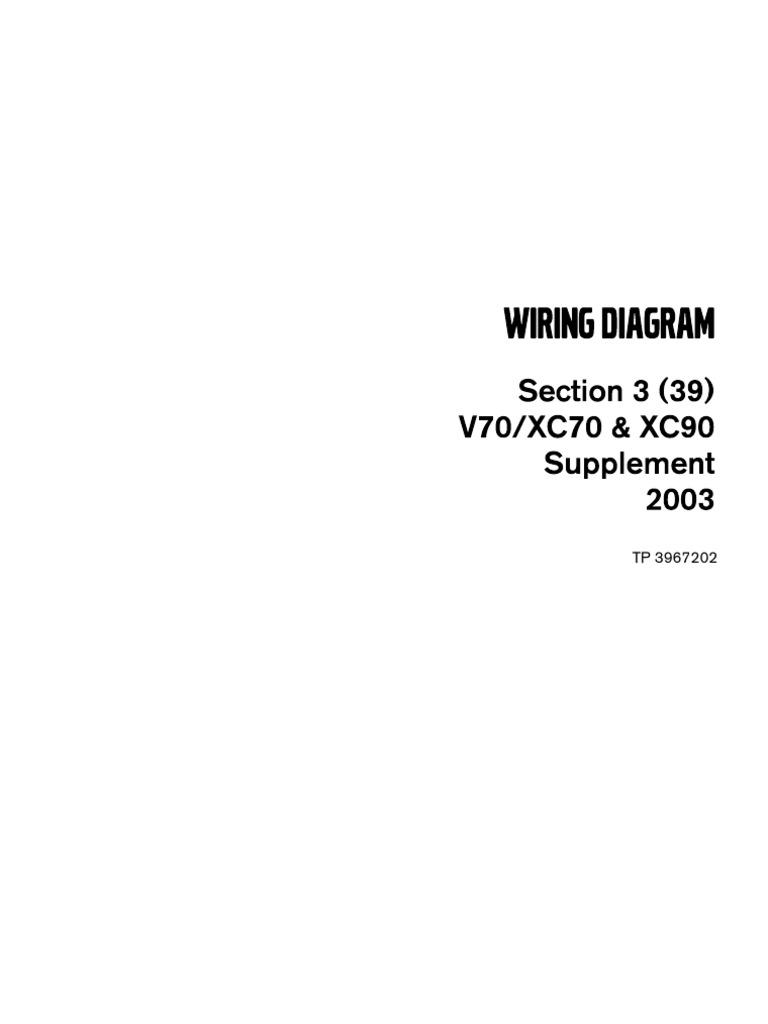 Volvo V70 Xc70 Xc90 2003 Supplement 120c Wiring Diagram