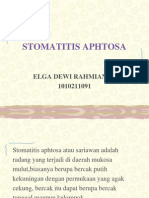 Case 1 - Stomatitis Aphtosa