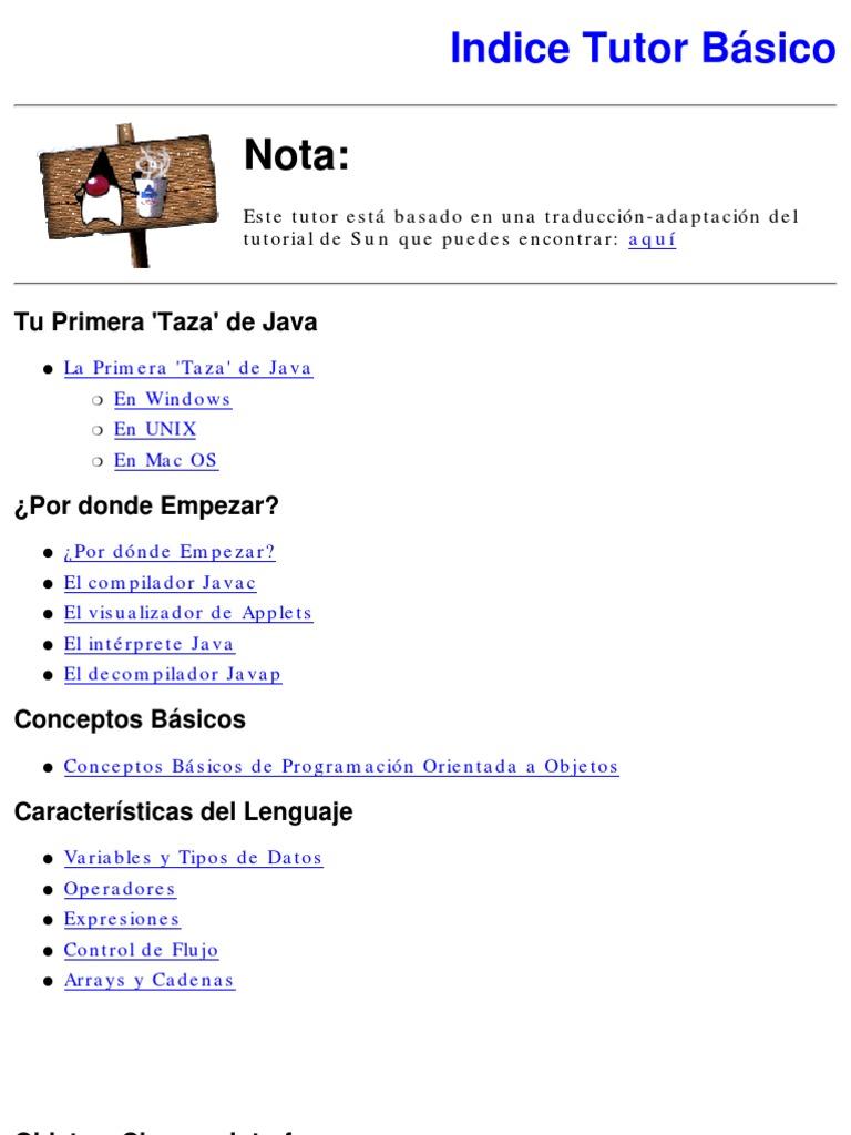 Manual - Programacion - Java - Tutor Basico