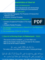 The Characteristics of Shariah