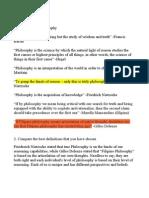 Philosophy 1 St Homework