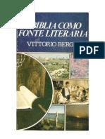 A BÍBLIA COMO FONTE LITERÁRIA - VITTORIO BERGO