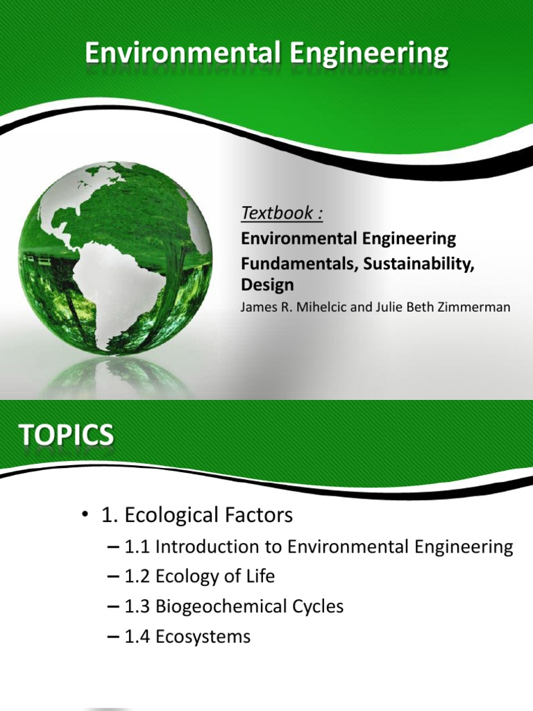 Introduction To Environmental Engineering   Water Resources   Sustainability