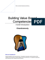 Building Value Based Competencies - Book in Brief - Chandramowly