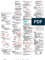 Physics Final (cheat sheet) with problems
