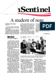 "Musical Cares - Sun Sentinal Article ""Student of Note"""