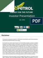 Investor Presentation Ecopetrol Jan 2012 V3
