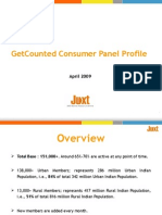 Get Counted Consumer Panel Profile - April 2009