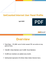 Get Counted Internet User Panel Profile - April 2009