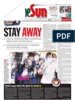 thesun 2009-05-05 page01 stay away police warn against gathering near state secretariat