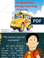 Use of Motivation in teaching-learning process