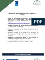 Requisitos Para Estadistica Inicial