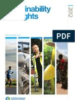 Sustainability Highlights 2012 Summary(1)
