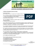 Legislação de interesse das comunidades tradicionais de terreiro - 07-09-2010