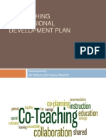 co-teaching professional development plan presentation