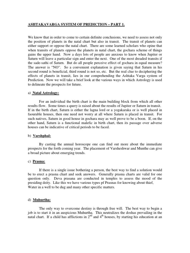 Astakavarga by neelakanta astrology esoteric cosmology geenschuldenfo Images