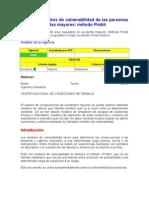 NTP 291 Modelos de vulnerabilidad de las personas por accidentes mayores método Probit