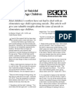 Guidelines for Suicidal Elementary-Age Children