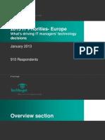 IT Priorities in Europe