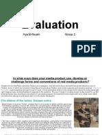 Media Course Work Evaluation