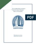 Office of Risk Management - Legislative Auditor's report