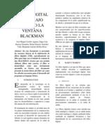 Filtro Digital Paso Bajo Usando La Ventana Blackman