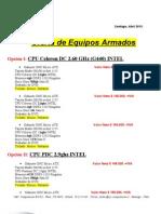 Oferta de PCS (Abril)