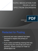 Psychotropic Medication for People With Autism Spectrum Disorders UCSD Child Psychiatry 032211 (1.0 Redacted for Posting)