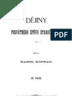 Dejiny Posvatneho Zpevu Staroceskeho i. Dil - Karel Konrad Needit