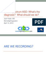 Diagnostic Confusion Comorbidity in Broad Spectrum ASD Mfa 041412 (With Mfa Slides)