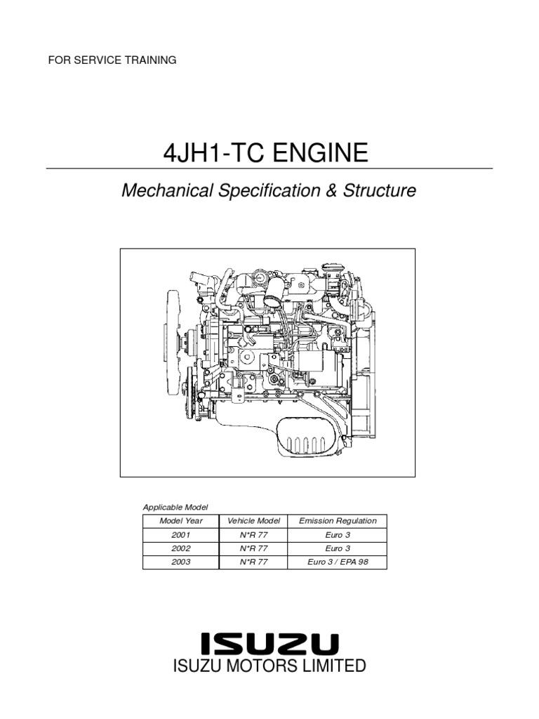 4jh1 tc mec nica internal combustion engine piston rh es scribd com 4HK1-TC Engine Isuzu 4HK1 Engine Specifications