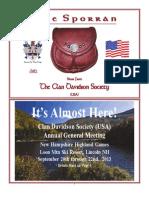 Clan Davidson quarterly newsletter (June 2013)