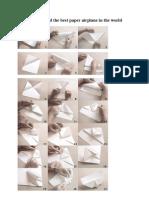 manual de manualidades - papiroflexia - el mejor avión de papel del mundo