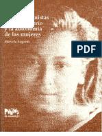 Claves Feministas Para El Poderio y Autonomia. Marcela Lagarde