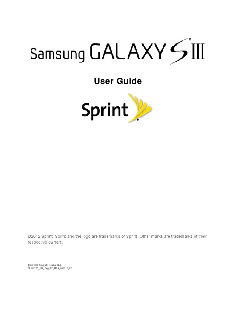 Sprint SPH-L710 Galaxy S III JB English User Guide MD4 F3