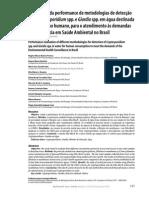 avaliação da performance de metodologias de detecção de cryptosporidium e giardia - franco - 2012