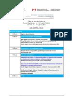 Agenda Taller Panama 19 Junio 2013