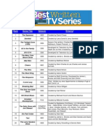 101 Mejores Series de La Historia