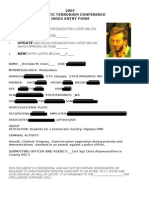 Domestic Terrorism Conference Dossiers Redacted