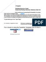 Feasibility Assessment Template