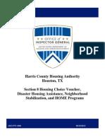 2013 U.S. HUD audit of Harris County Housing Authority