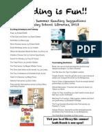 5th grade Summer Reading List 2013