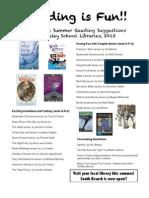 4th grade Summer Reading List 2013