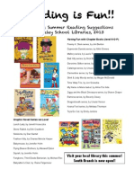 3rd grade Summer Reading List 2013